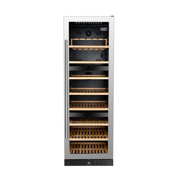 Refroidisseur à vin double zone de KUCHT, 127 bouteilles