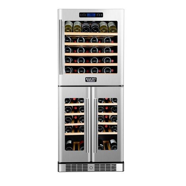 Refroidisseur à vin Tri Zone de KUCHT, 72 bouteilles