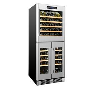 KUCHT 72-Bottle Tri Zone Wine Cooler