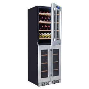 KUCHT 121-Bottle Tri Zone Wine Cooler