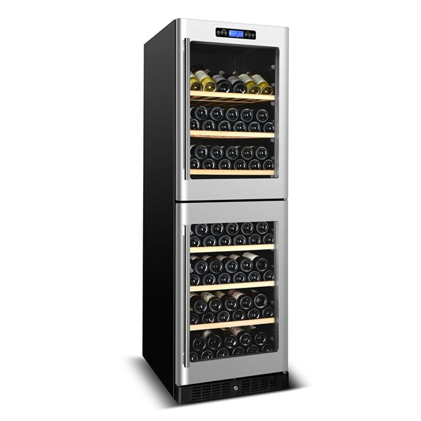KUCHT 155-Bottle Dual Zone Wine Cooler