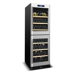 Refroidisseur à vin double zone de KUCHT, 155 bouteilles