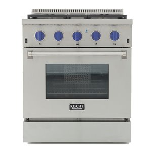 KUCHT Professional 30-in  Dual Fuel Range for Natural Gas  - 4 burners - Stainless Steel