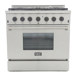 KUCHT Professional 36-in Dual Fuel Range for Natural Gas  - 6 burners - Stainless Steel