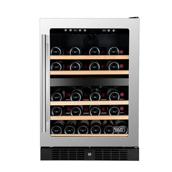 KUCHT 54-Bottle Dual Zone Wine Cooler