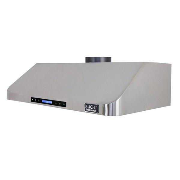 Hotte de cuisine sous cabinet KUCHT de 30 po 900 CFM en acier inoxydable