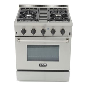 KUCHT Professional 30-in 4.2 cu. ft. Natural Gas Range with Convection Oven with Tuxedo Black Knobs - 4 burners