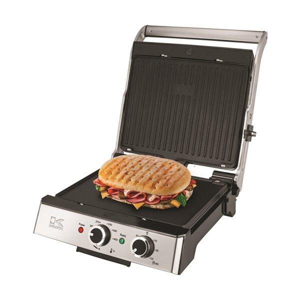 Kalorik 4-in-1 Eat Smart Grill - Stainless Steel