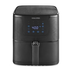 Friteuse digitale à air chaud XL Kalorik, 4,7 l, noir mat