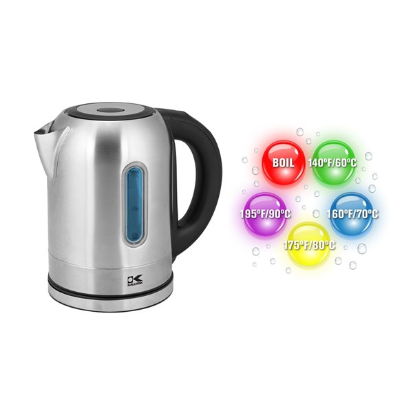 Kalorik 1.7 Litre Digital Water Kettle with Colour LED