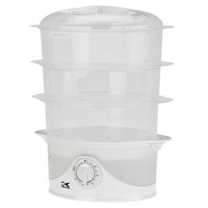 Cuiseur à vapeur 3 étages Kalorik, 8,5 litres, blanc