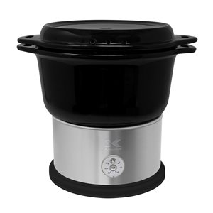 Kalorik 4.8 Qt Ceramic Steamer with Steaming Rack - Black