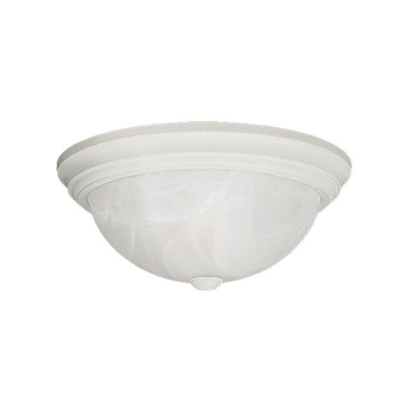 Millennium Lighting Textured White Flush Mount - Faux Alabaster Glass - 2-Light