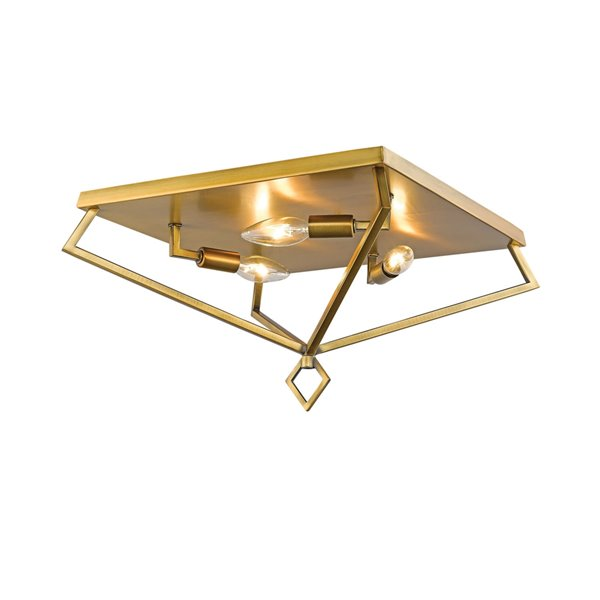 Millennium Lighting Heirloom Bronze Flush Mount - 3-Light