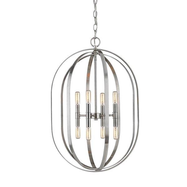 Millennium Lighting 8 Light Pendant - Brushed Nickel