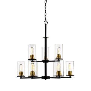 Millennium Lighting Pasadena Chandelier - Matte Black/Heirloom Bronze