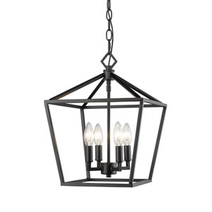 Millennium Lighting 4 Light Pendant - Matte Black