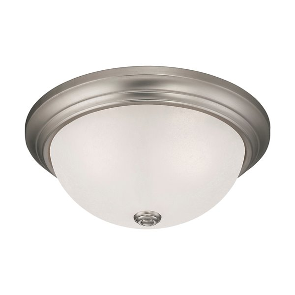 Millennium Lighting Satin Nickel Flush Mount - Light India Scavo Glass - 3-Light