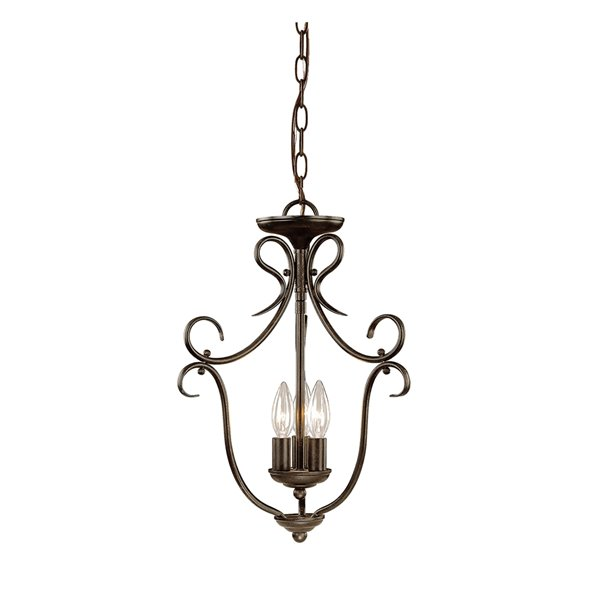 Millennium Lighting 3 Light Pendant - Burnished Gold