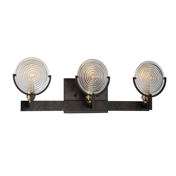 CWI Ligthing Bhima 3 Light Wall Sconce - Brown finish
