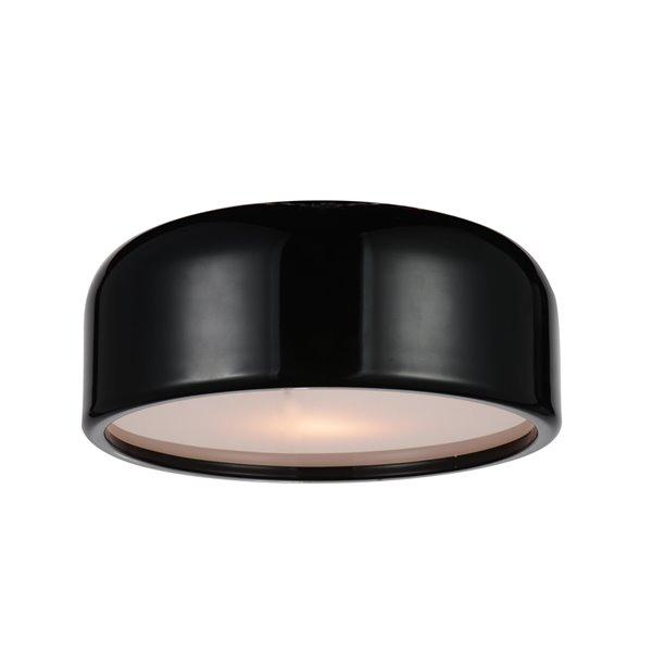 CWI Lighting Campton 2 Light Drum Shade Flush Mount - Black finish