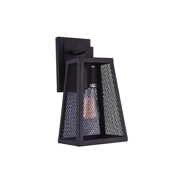 CWI Lighting Alistaire 1 Light Wall Sconce - Reddish Black finish