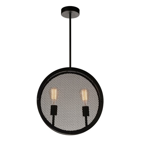 CWI Lighting Tigris 2 Light Up Pendant with Black finish