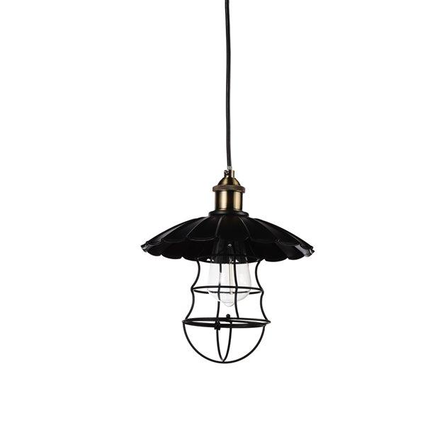CWI Lighting Amur 1 Light Down Pendant with Black finish