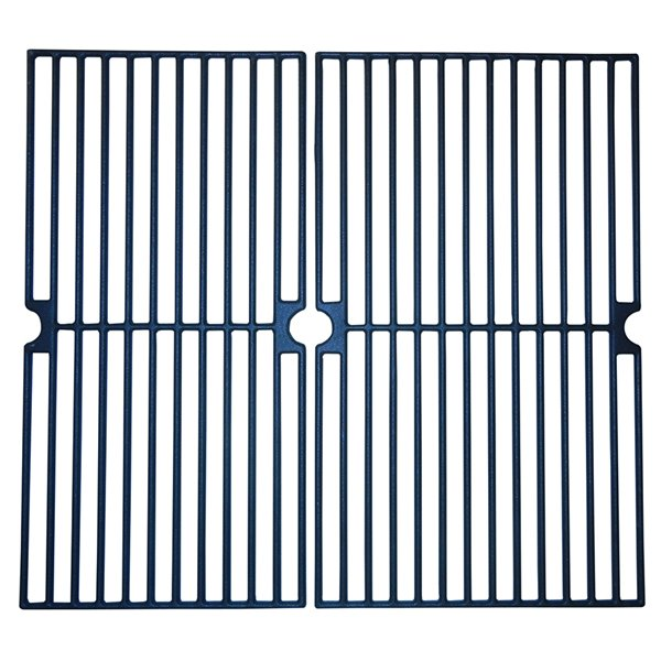 Music Metal City Cooking Grid for Brinkmann Gas Grills - 19.13-in - Porcelain-Coated Cast Iron - 2-Piece Set