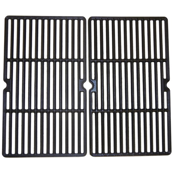 Music Metal City Cooking Grid for Centro and Cuisinart Gas Grills - 21.63-in - Porcelain-Coated Cast Iron - 2-Piece Set