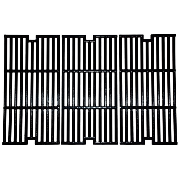 Music Metal City Cooking Grid for Centro and Cuisinart Gas Grills - 28.5-in - Porcelain-Coated Cast Iron - 3-Piece Set