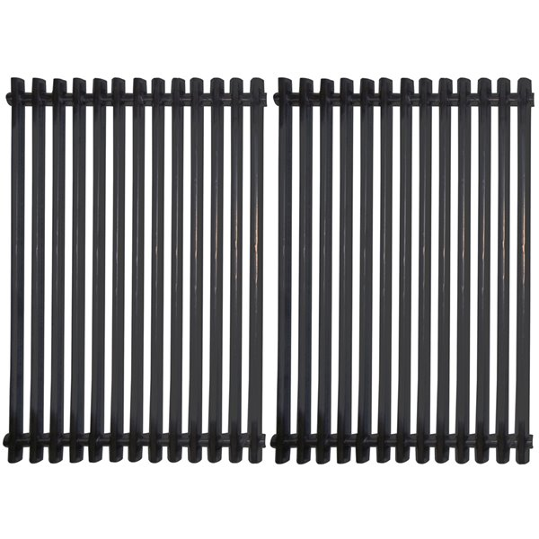 Music Metal City Cooking Grid for Weber Gas Grills - 23.5-in - Porcelain-Coated Steel - 2-Piece Set