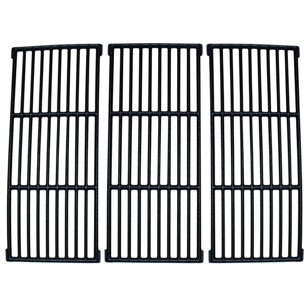 Music Metal City Cooking Grid for Amana and Surefire Gas Grills - 23.25-in - Porcelain-Coated Cast Iron - 3-Piece Set