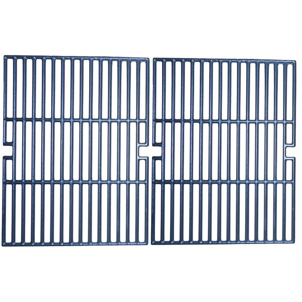 Music Metal City Cooking Grid for Kenmore and Permasteel Gas Grills - 25.88-in - Porcelain-Coated Cast Iron - 2-Piece Set