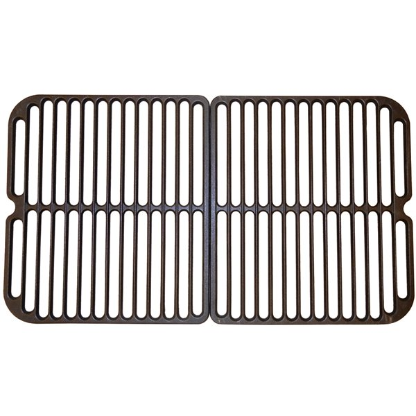 Music Metal City Cooking Grid for BBQ Tek and Blooma Gas Grills - 24.38-in - Porcelain-Coated Cast Iron - 2-Piece Set
