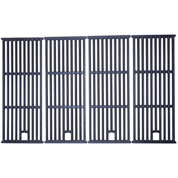 Music Metal City Cooking Grid for Outdoor Gourmet Gas Grills - 31-in - Porcelain-Coated Cast Iron - 4-Piece Set