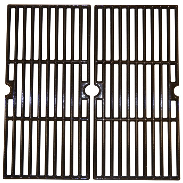 Music Metal City Cooking Grid for Charbroil Gas Grills - 16.75-in - Porcelain-Coated Cast Iron - 2-Piece Set