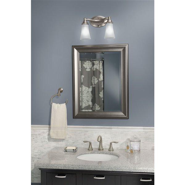 MOEN Eva Chrome Bathroom Vanity Light - 2-Light - Chrome