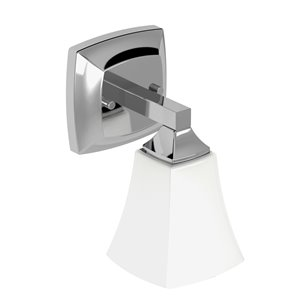 MOEN Voss Chrome Bathroom Vanity Light - 1-Light - Chrome