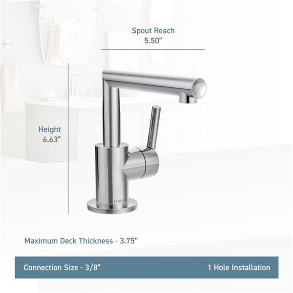 MOEN Arris Bathroom Faucet - 1-Handle - Matte Black