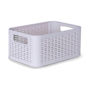 Superio Plastic Storage Box - 8.5-L - White