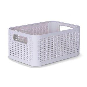 Bac de rangement en plastique de Superio, 8,5 L, white