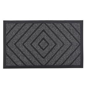 Paillasson rectangulaire de Superio, 17 po x 29 po, gris