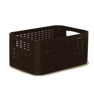 Superio Plastic Storage Box - 18.9-L - Black