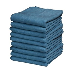 Superio Ultra Microfiber Miracle Cloths - 16-in - Blue - Pack of 25
