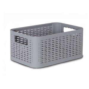 Bac de rangement en plastique de Superio, 18,9 L, gris