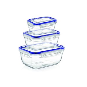 Superio Rectangle Food Plastic Container - Set of 3