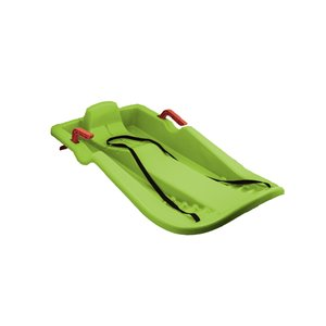 Superio Long Snow Sled with Brakes - Green