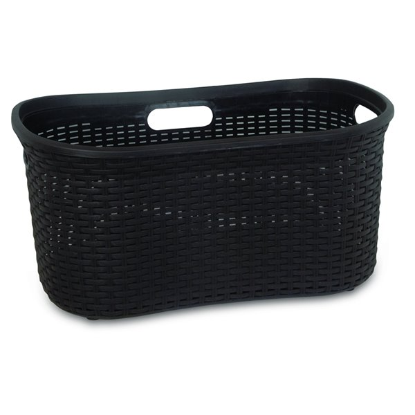 Superio Wicker Curved Laundry Basket - 22-in x 18-in - Brown