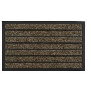 Paillasson rectangulaire de Superio, 17 po x 29 po, brun/noir